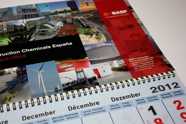 Calendarios de pared desplegables mensuales